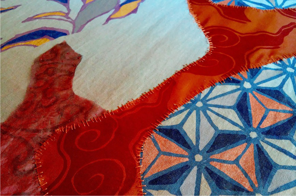 Painel Véus Nakawe tecidos